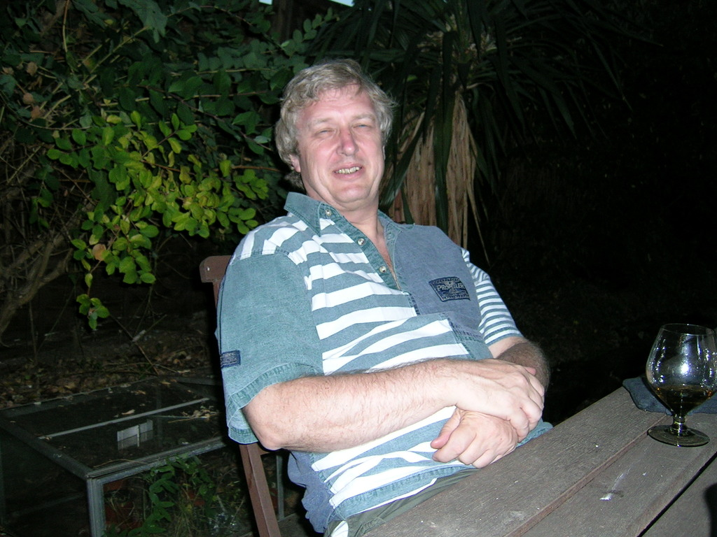 Alan in the garden in Guildford