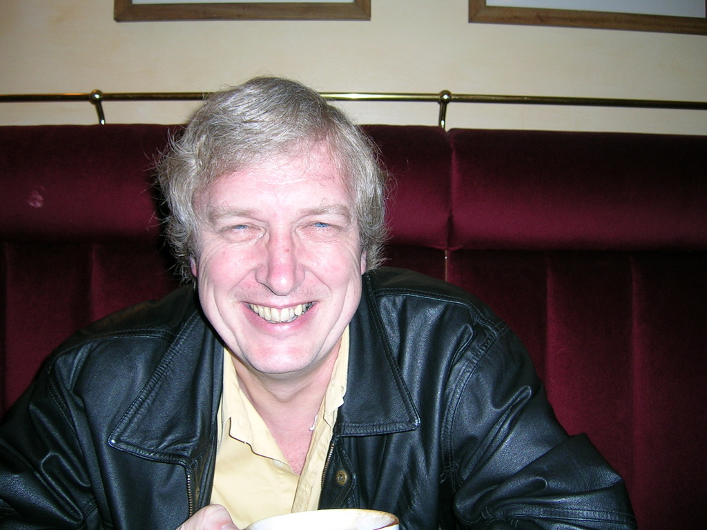Alan in the Café Rouge, Guildford