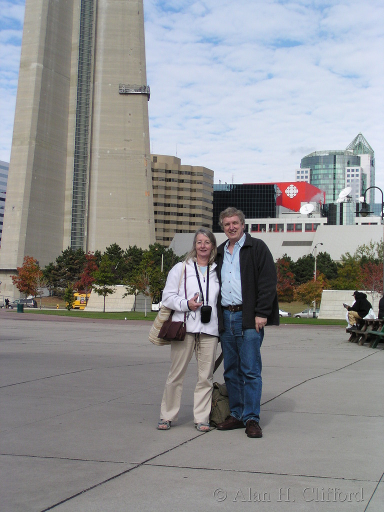 Margaret and Alan and the CN tower, Toronto