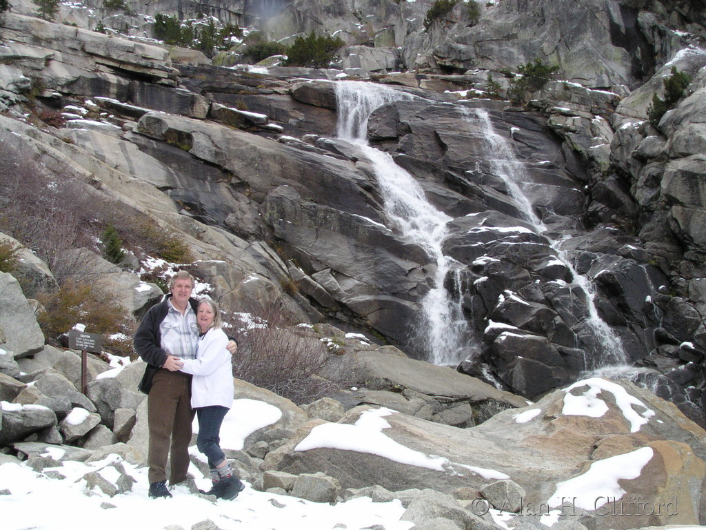 Margaret and Alan at Tokopah Falls