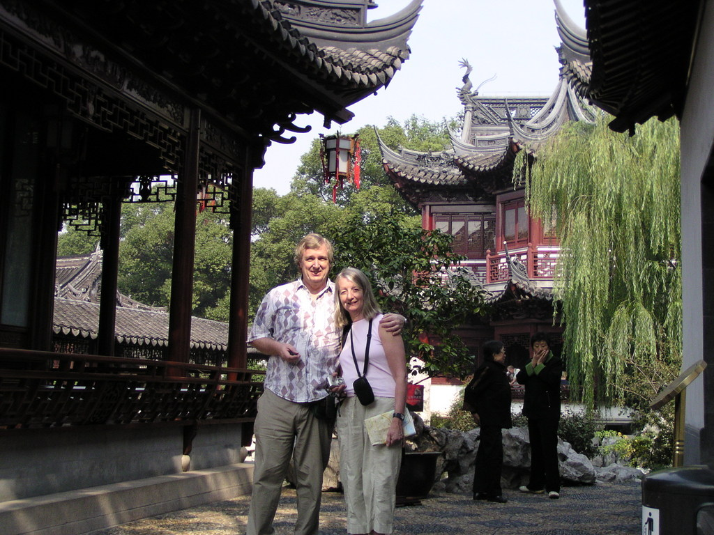 Margaret and Alan in the Yu Gardens