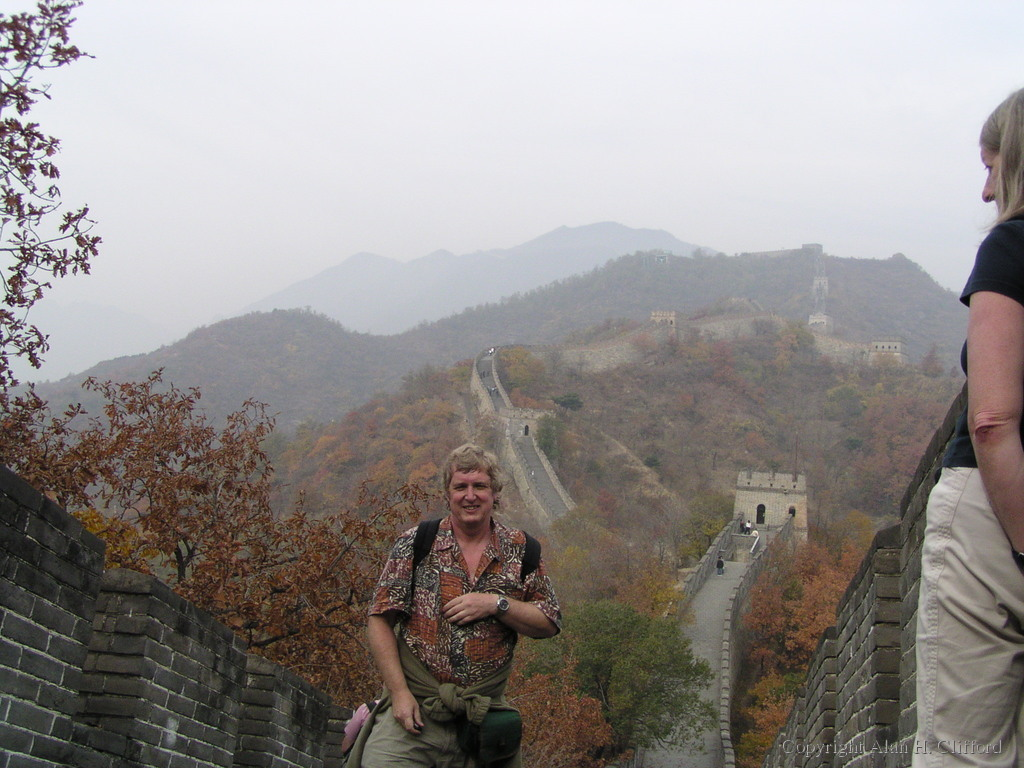 Alan on the Great Wall of China at Mutianyu