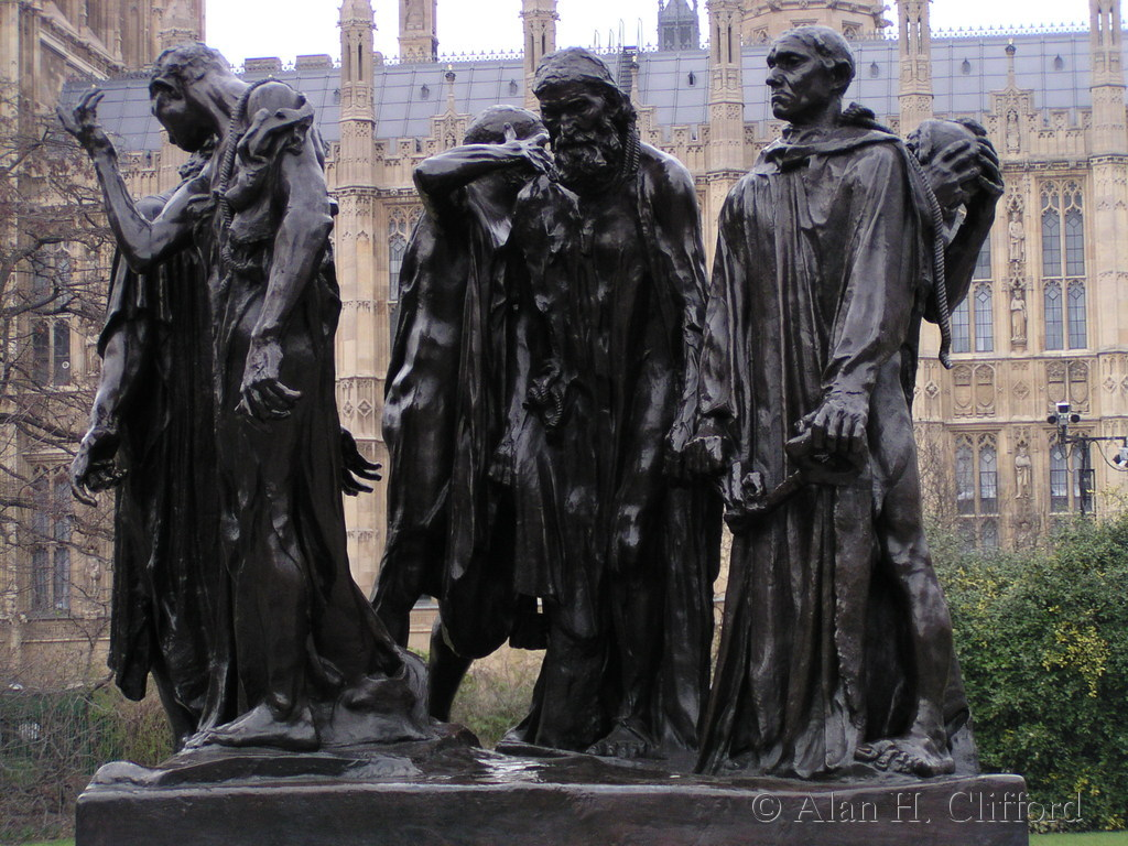 Rodin's Burghers of Calais, London