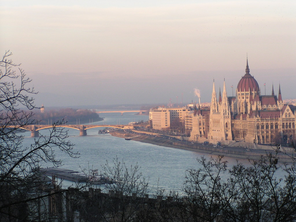 The Danube and the Parliament Building seen from Castle Hill